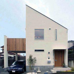 片流れの家:横浜の狭小住宅