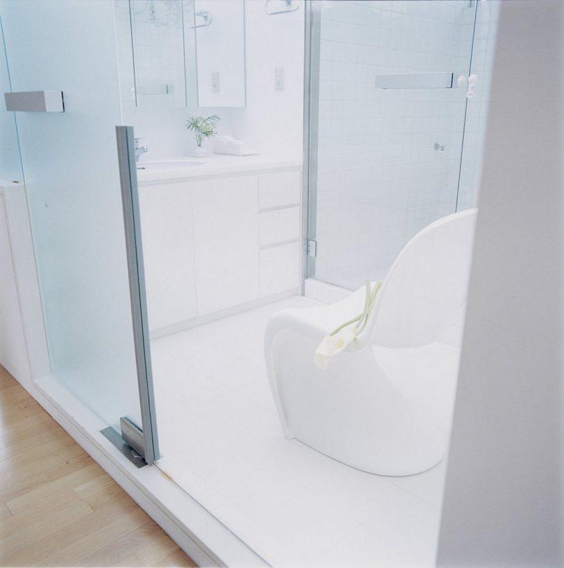 トップライトのある洗面脱衣室