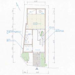house-aoyama:間取り図(3階建ての家)