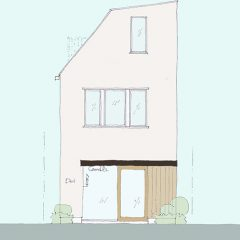 house-di:店舗併用3階建ての家 間取り図