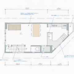 間取り図:店舗併用3階建て住宅