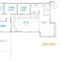 gym-house:ジムホールのある二世帯住宅 間取り図