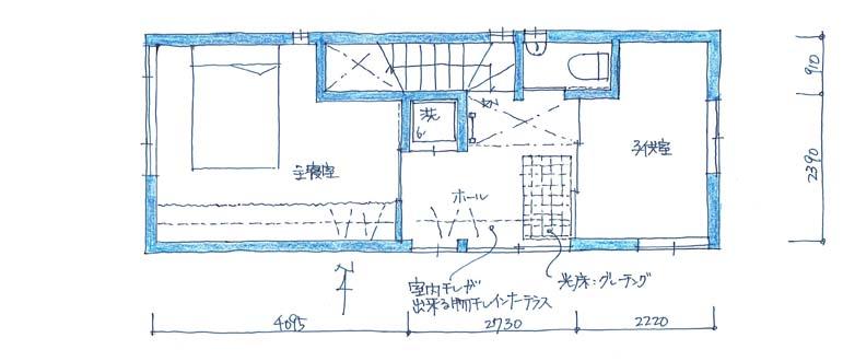 建築家・設計事務所と建てる世田谷区の3階建て狭小住宅間取り図