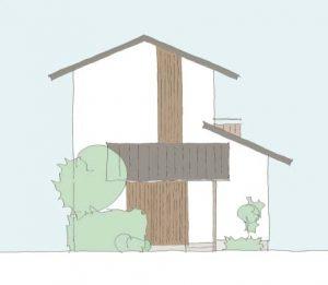 建築家との家づくり立面図