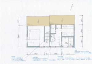 間取り図:目黒区の3階建て狭小住宅