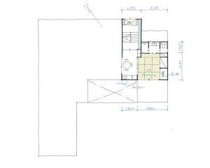 建築家と建てる玄関共有型二世帯住宅間取り図