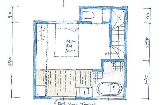 house-ktk:大田区の3階建て狭小住宅|間取り図