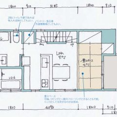h-mto:大田区に3階建て同居狭小住宅|間取り図