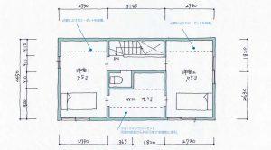 品川区で建築家と建てる3階建て狭小住宅間取り図