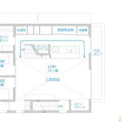 h-mur:千葉のcompact二世帯住宅| 間取り図