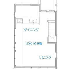 nobori2-house: 間取り図(狭小ローコスト住宅)