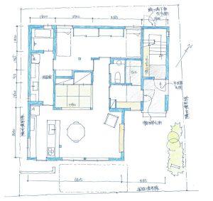 建築家と建てる3階建て完全分離型二世帯住宅間取り図