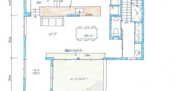 h-sgs 横浜の3階建て完全分離型二世帯住宅|間取り図