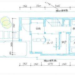 house-tkg:バイクガレージのある3階建ての家間取り図