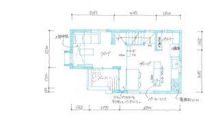 間取り図:建築家と建てる東京大田区の3階建てデザイン住宅
