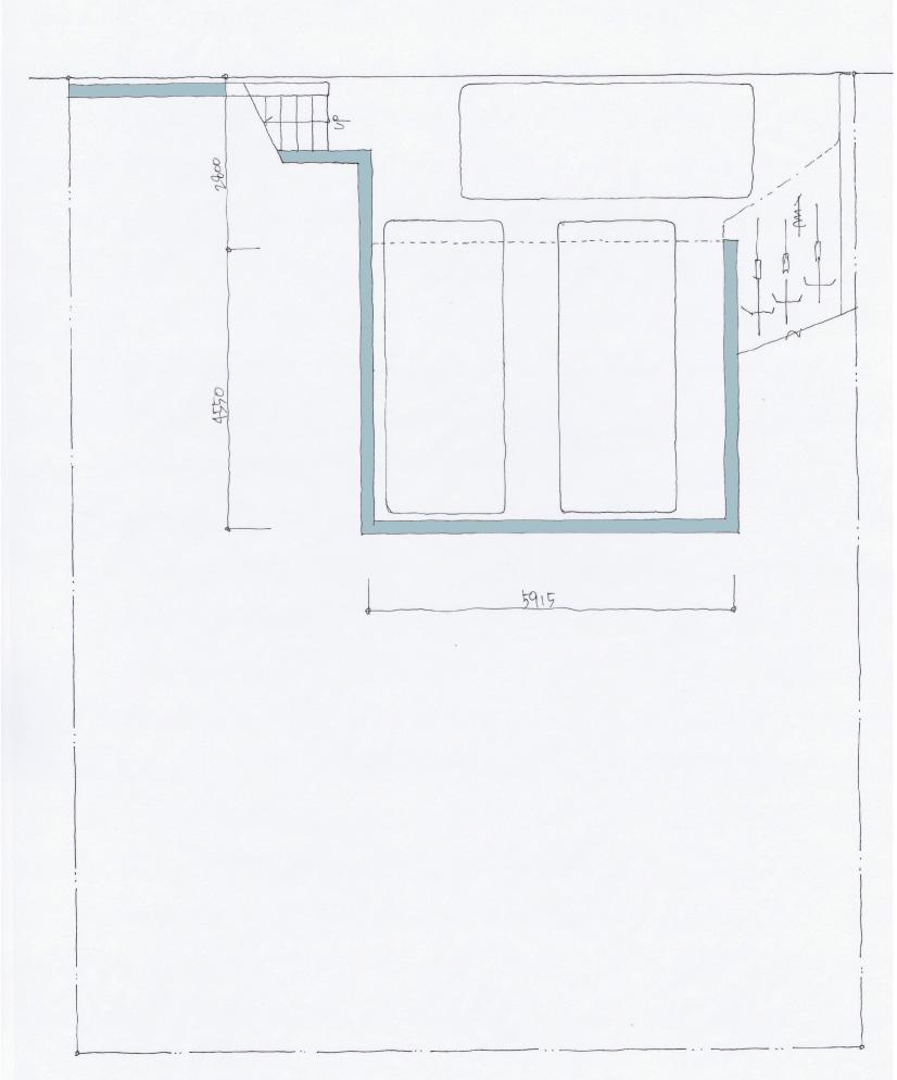 建築家と建てるひな壇土地のデザイン注文住宅間取り図