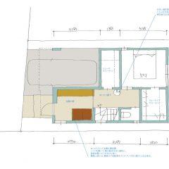 house-tkm:間取り図( 川崎の3階建て住宅)