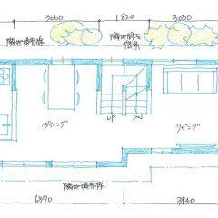 house-tkn:世田谷の3階建て住宅間取り図