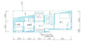 東京世田谷のデザイン3階建て狭小住宅