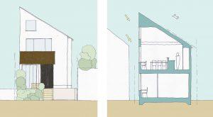 間取り図:世田谷区 デザイン注文住宅