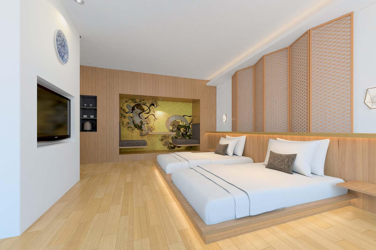 ホテル客室インテリアデザイン