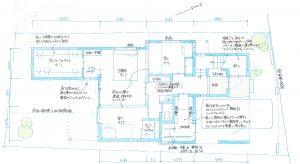 東京都大田区の2階リビングデザイン注文住宅間取り図